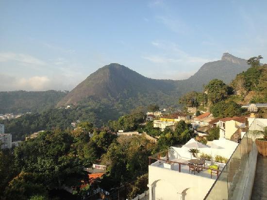 The Villa: vue de la terrasse sur le Corcovado