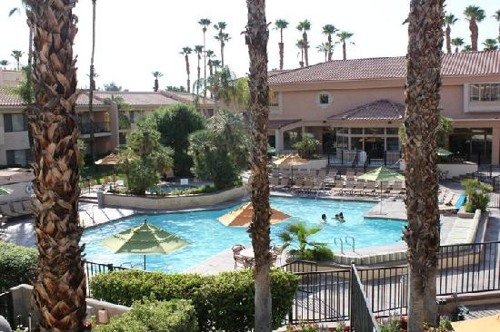 Welk Resort Palm Springs - Desert Oasis: Main Pool.  View from our balcony.