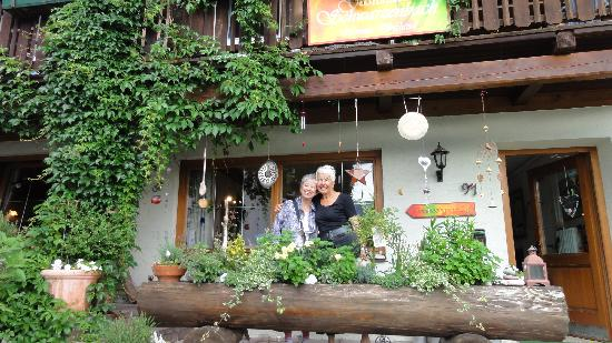 Pension Schwarzenbach: Frau Schwazenbach on right