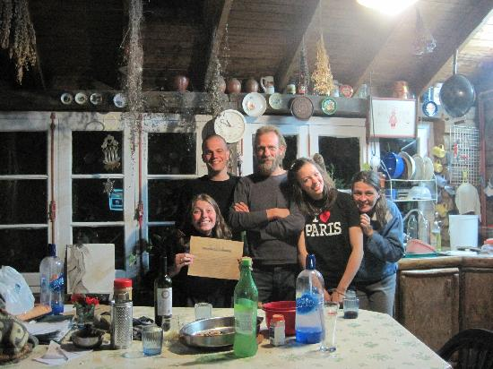 Rock's Heim Organic Farm: My last night. They gave me a certificate!