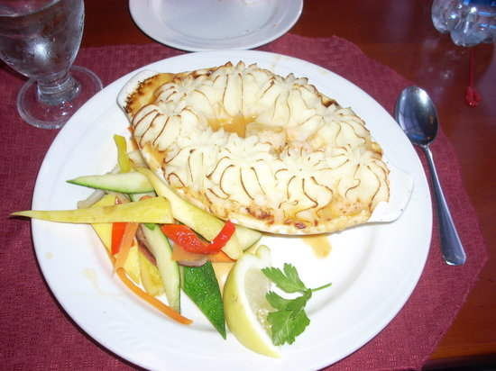 Tugboat Inn Restaurant: The seafood pie at the Tugboat Inn is quite an experience.