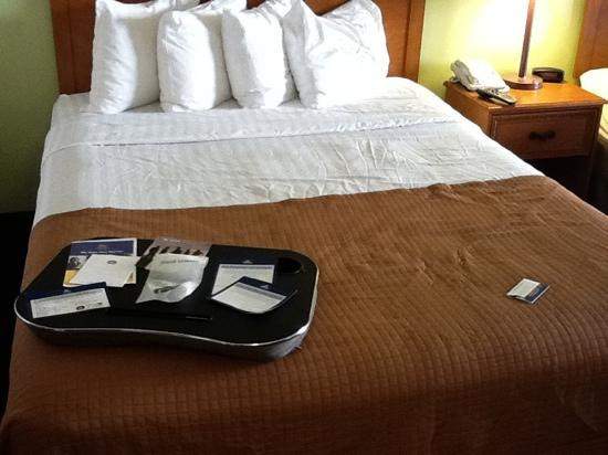 BEST WESTERN Evans Hotel: has a cool laaptop tray