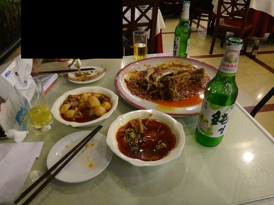 Chuan Ban Restaurant : Ribs are top-right, highlight of the food we had in China