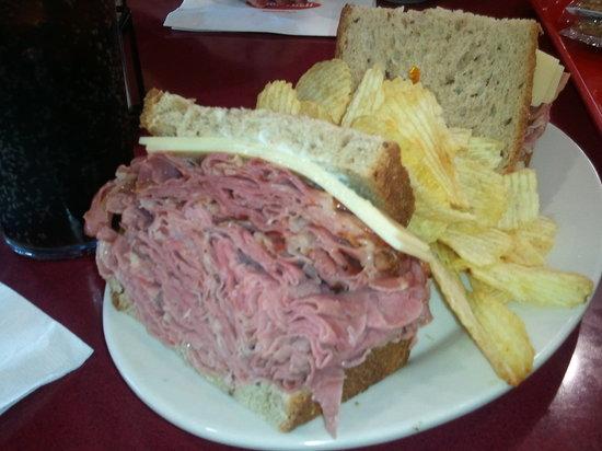 Jason S Deli The New York Yankee Hot Corned Beef Pastrami Swiss On