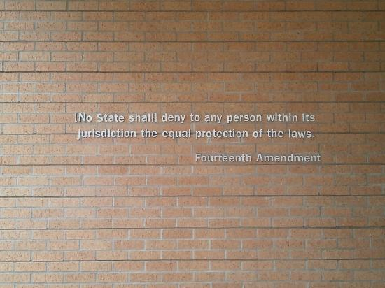 Little Rock Central High School: The wall next to the entrance