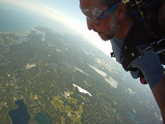 Skydive Cape Cod: View as you jump