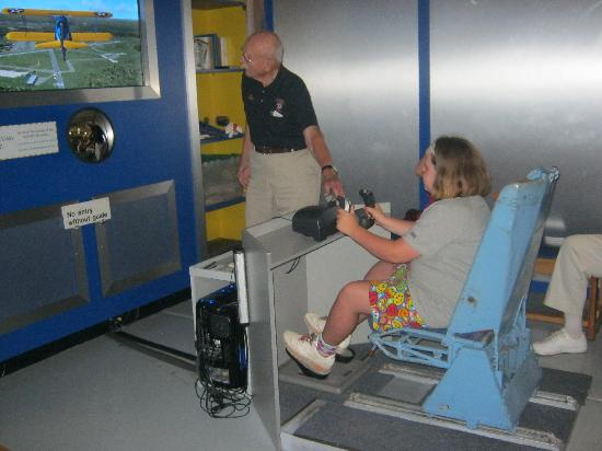 Air Mobility Command Museum: My oldest in the simulator.