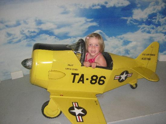Air Mobility Command Museum: My youngest in the tiny plane.