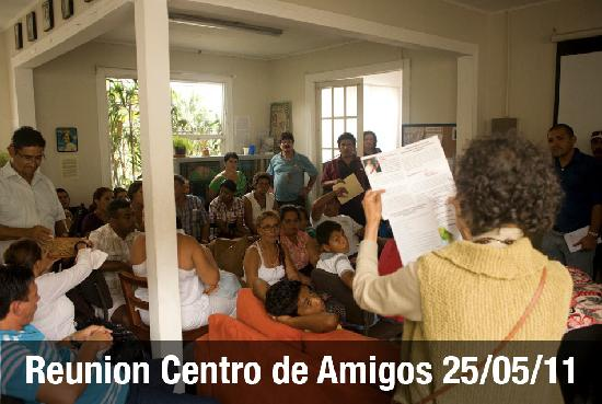 Casa Ridgway Hostel: The Hostel helps fund the NGO projects. This is a meeting in support of Costa Rica's coastal com