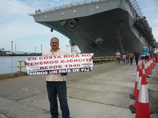 Hostel Casa Ridgway: The NGO protesting against US military presence in Costa Rica.