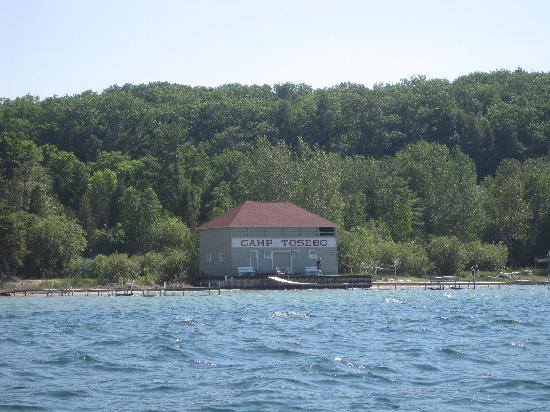 Camp Tosebo: portage lake boathouse