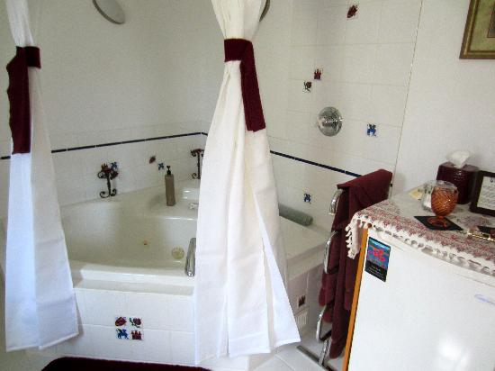 Belle Vue Bed and Breakfast : Large Jetted Bathtub