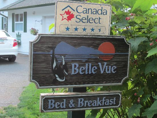 Belle Vue Bed and Breakfast : Sign