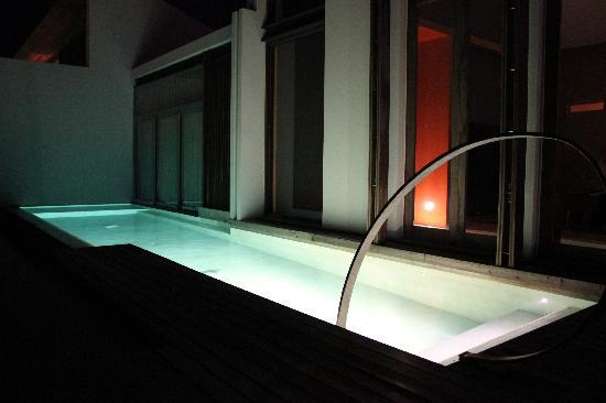 W Koh Samui: on our back deck at night