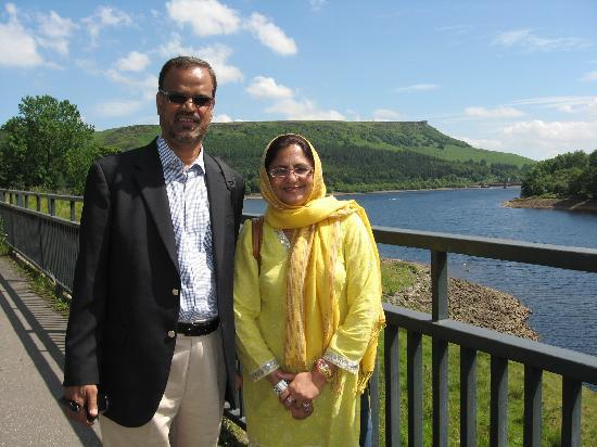 Sheffield, UK: Lady Bower Reservoir-With my wife