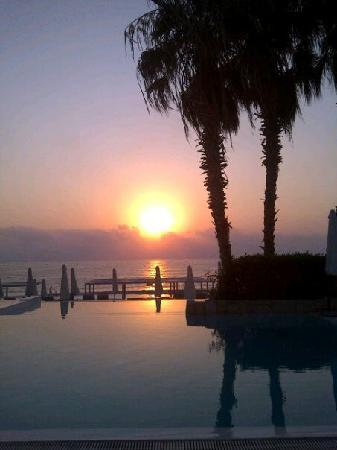 Liban : Sunset from Bamboo Bay Beach resort 15mins from Beirut