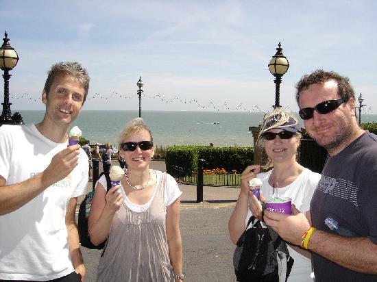 Biker's Delight: Ice Cream stop (Graham on the left)