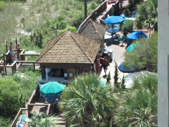 Beach Cove Resort: looking down at the tiki bar