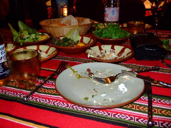 Bab Al Shams Desert Resort & Spa: Yummy arabic food in al hadeera outdoor restaurant
