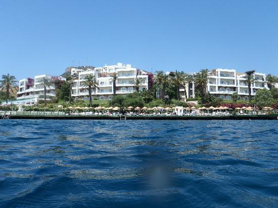 Hotel Baia Bodrum : Baia hotel view from the sea