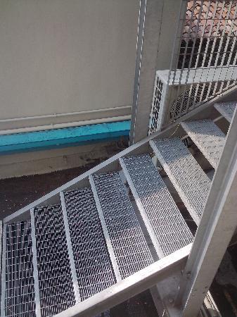 Hotel Miralago : vue sur l'escalier de service