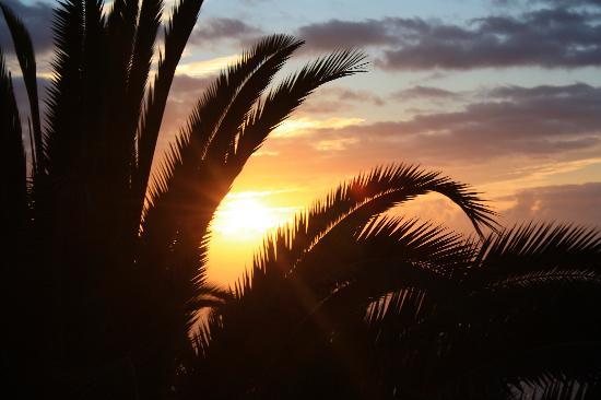 Residencial Rolando: Sonnenuntergang auf der Terrasse