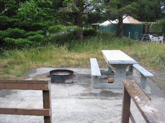 Cape Disappointment State Park: Fire pit
