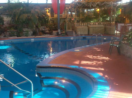Holiday Inn Montreal Airport Pool Area In Middle Of Hotel