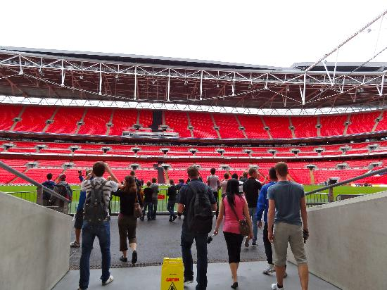 Wembley Stadium: Coming out the tunnel