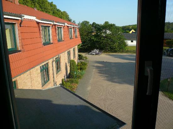 Schwarzenhof b Kargow, เยอรมนี: Der Ausblick aus unserem Zimmer
