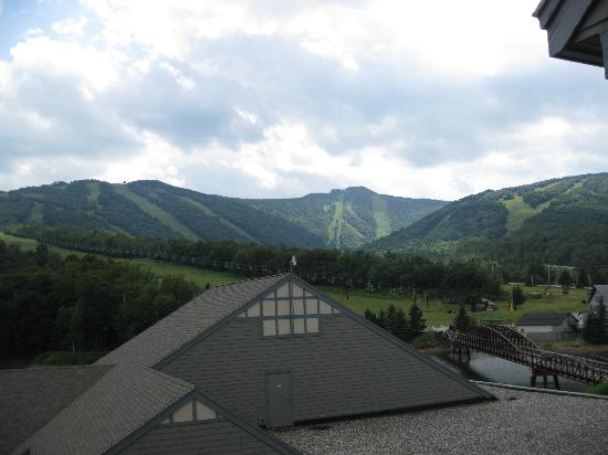 Killington, VT: View of mountain from room (biking on this mountain)