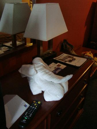Comfort Inn Civic Center: Nice touch with the towels
