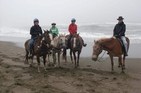 Ross Ranch : Our family halfway through our beach ride