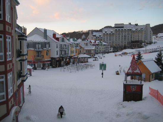 Le Sommet des Neiges : View off of the balcony...not too bad!