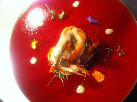Quince: King Prawns in Truffle Hollandaise sauce