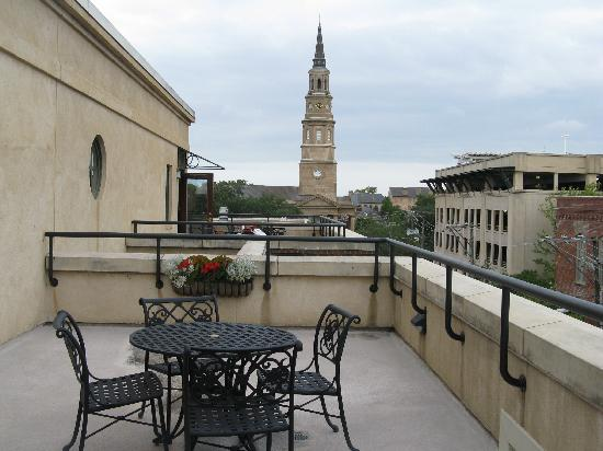 French Quarter Inn: St. Phillip's bell tower from the balcony