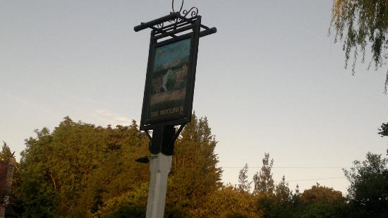 The Woolpack: Pub sign