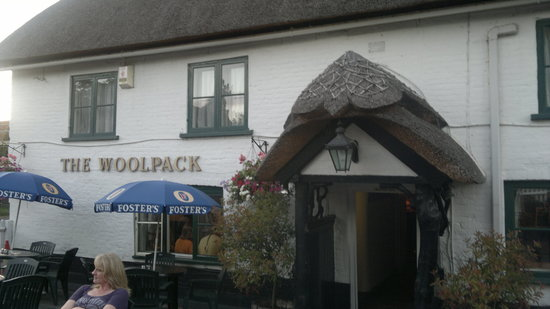 The Woolpack: pub front