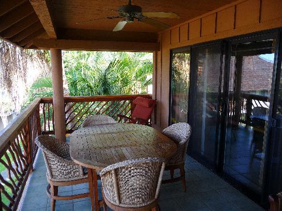 Wyndham Kona Hawaiian Resort: There's even a fan on the lanai!