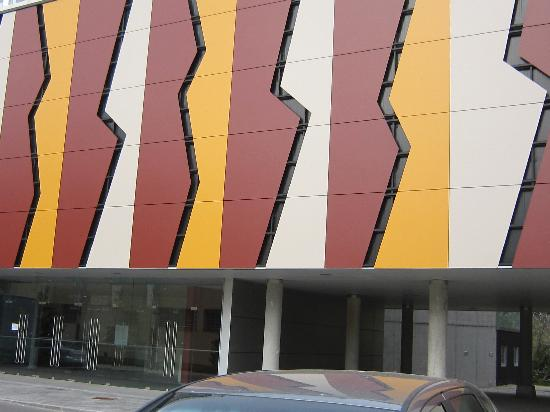 Facade and entrance to new museum of Tito Bustillo