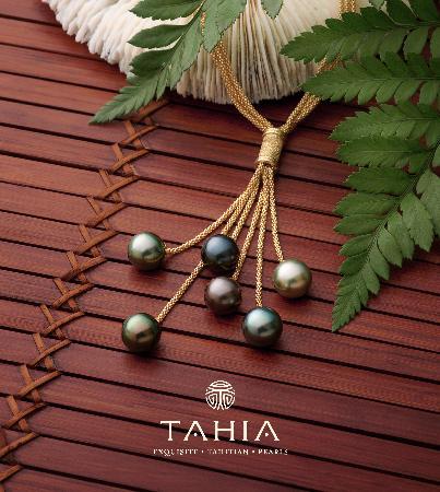 Tahia Exquisite Tahitian Pearls Moorea: The cascade