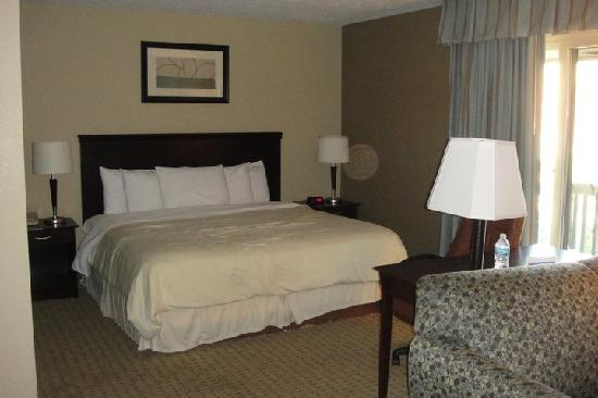 Eastland Suites Hotel & Conference Center: Downstairs King in the 2-Story Suite