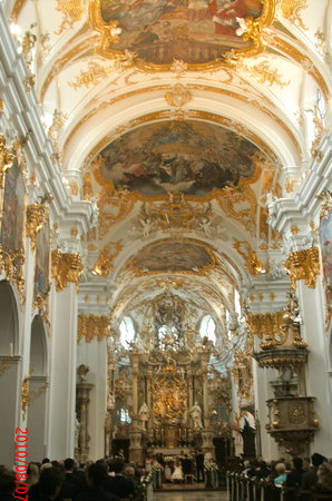 Regensburg, Germany: Rococo interior of Alte Kapelle