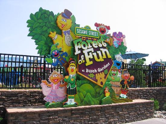 Sesame Street Forest Of Fun - Picture of Busch Gardens Williamsburg ...