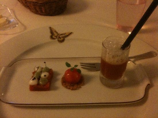 Restaurant Dallmayr: Tomato starter