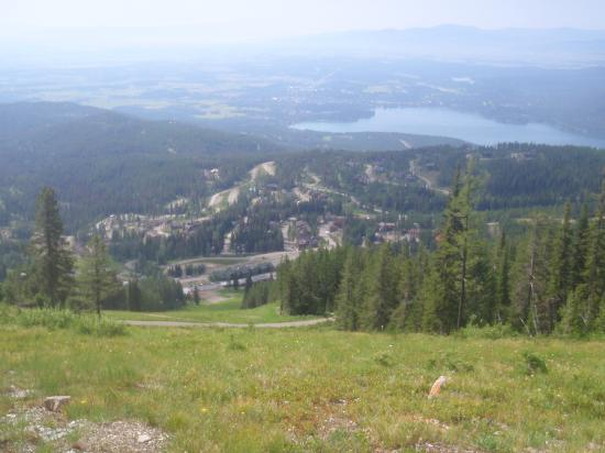Whitefish Mountain Resort Lodging: view from top of mtn