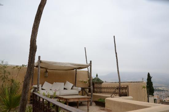 Riad Les Oudayas : La terrasse principale