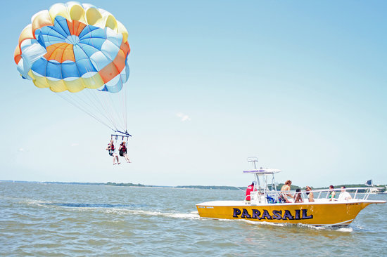 Palmetto Bay Parasail Hilton Head Sc Review Of S Up Parasailing Folly Beach