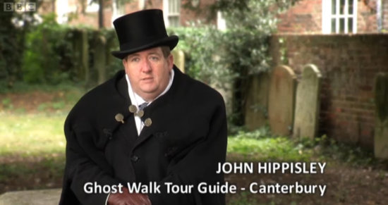 Canterbury Ghost Tour: Screen shot from BBC TV's John Bishop's Britain