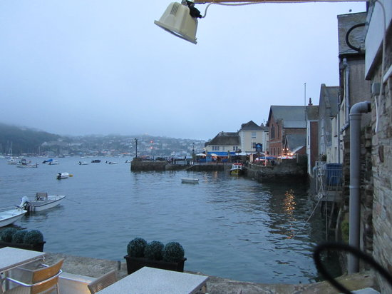 Q Restaurant at The Old Quay House: If the sun were out, it would have been great.